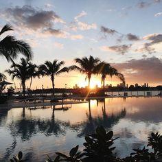 Sunset at Miami Beach  by @nellyslife__  #WednesdayWisdom