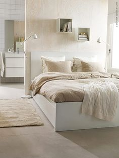 Ikea malm bed bed bed home bedroom bed with drawers white ikea malm bed High Bed Frame, Malm Bed Frame, Bed Frames, Cama Malm Ikea, Ikea Small Spaces, High Beds, Bed Frame Design, White Bedding, Ikea Bedroom White