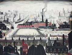 """The Football Match"" by artist L.S. Lowry, 1949"