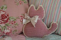 Kitty-Cat Mini Cushion: A Crochet PDF Pattern