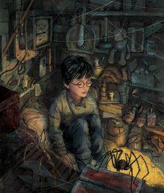 """Ilustração de """"Harry Potter e a Pedra Filosofal - Edição Ilustrada""""   J.K. Rowling   Jim Kay http://www.presenca.pt/livro/harry-potter-e-a-pedra-filosofal-edicao-ilustrada/"""