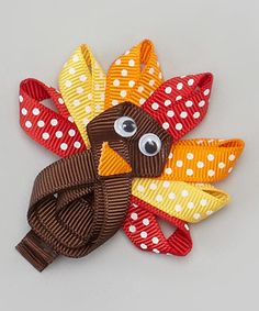 Look what I found on #zulily! Orange & Yellow Turkey Clip #zulilyfinds