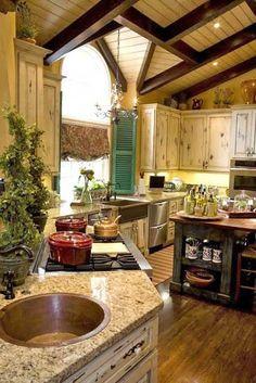 Modern kitchen with an antique design - polanerspreads.com #kitchen #design #musthave