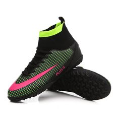 c9500077f New Arrival Soccer Shoes Superfly Futsal TF Football Boots For Men High  Ankle Turf Indoor Cleats Sneakers Trainer