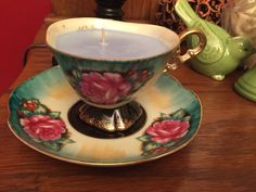 A personal favorite from my Etsy shop https://www.etsy.com/listing/229818146/creme-brulee-candle-in-vintage-teacup