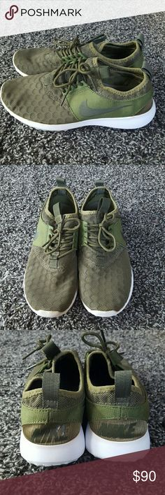 8c352ed9f51 Like New army green Nike Juvante Like new they are too little for me size 7
