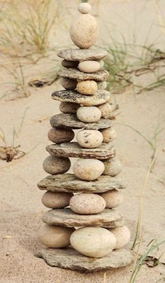 """Serenity :) Offer river rocks and flat stones- challenge the children to build """"up"""" Rock towers challenge children with balance and design More"""