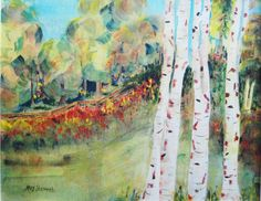 Treed  Watercolor on canvas