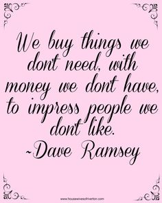 Dave Ramsey Financial Peace University | www.housewivesofriverton.com