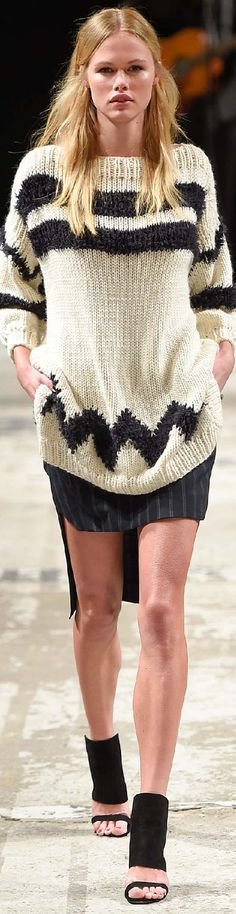Copenhagen Fall 2015 Baum und Pferdgarten/ I love this simplicity  of the design and how easy this will be to make!