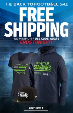 SAVINGS END TONIGHT: Free Shipping on Seahawks Gear Expires Soon