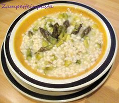 Orzotto con asparagi verdi - Soup with green asparagus http://zampetteinpasta.blogspot.it/2013/05/orzotto-con-gli-asparagi-verdicon-il.html