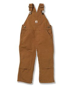 Another great find on #zulily! Brown Bib Overalls - Infant & Toddler by Carhartt #zulilyfinds