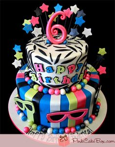 Cheetah & Zebra Print Birthday Cake » Birthday Cakes
