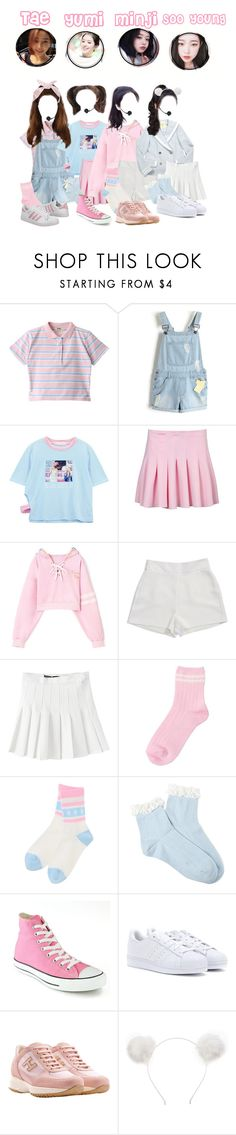 """FU51ON//Girls @Debut Stage// ""Lost"""" by fu51on8 ❤ liked on Polyvore featuring Chicnova Fashion, BCBGeneration, INC International Concepts, American Apparel, Forever 21, Converse, adidas, Hogan and Orelia"