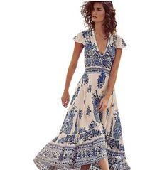 4347b59221d FashionOutfit Women s Summer Spaghetti Strap Floral Print Overlay ...