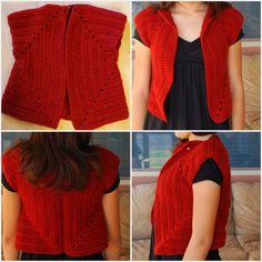Pardon my Chaos: The Squared Vest, WW yarn, 6.0 mm (J) hook