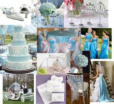 Cinderella wedding theme....don't love all this but inspiration