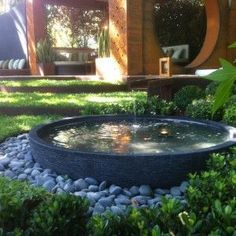 Why You Should Invest In Simple Water Features For Your Home Garden – Pool Landscape Ideas Garden Water Fountains, Small Fountains, Outdoor Fountains, Garden Pond, Shade Garden, Garden Paths, Backyard Water Feature, Water Features In The Garden, Small Water Features