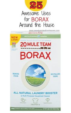 20 Mule Team Borax Natural Laundry Booster Household Cleaner Dial 00201 in Home & Garden, Household Supplies & Cleaning, Cleaning Products Homemade Cleaning Products, Cleaning Recipes, Natural Cleaning Products, Borax Cleaning, Toilet Cleaning Tips, Oven Cleaning Hacks, Cleaning Quotes, Cleaning Spray, Free Products