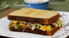 egg cheese sandwich is a healthy Indian breakfast recipe.It's a healthy recipe made with cheese,veggies, egg and bread. Easy Indian food egg cheese sandwich is spicy,cheesy and delicious.
