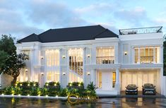 Classic House Exterior, Classic House Design, Tropical Design, Tropical Style, Indian Architecture, Architecture Design, Style Villa, Architectural Services, House Elevation