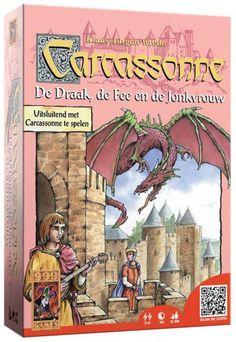 Deze uitbreiding voegt pest elementen toe, leuk dus. Carcassonne:  De Draak, De Fee en de Jonkvrouw uitbreidingset - Bordspel
