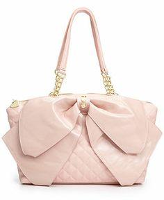 Betsey Johnson Bow Satchel - Betsey Johnson - Handbags & Accessories - Macy's
