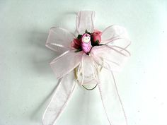 Mini baby shower bow Small gift wrap bow Baby package by jandavis2, $5.00