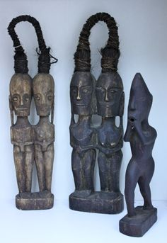 Dolls made from hardwood for Sri Lanka and Indonesia. Available at Ethnic Art & Jewelry