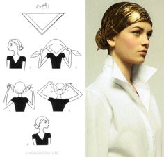 How To Tie A Scarf - Hermès Scarf Knotting Cards Vol.2 - CHIGNON COUTURE