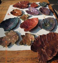 making garden art birdbaths - Metallic glazes & acrylic paints