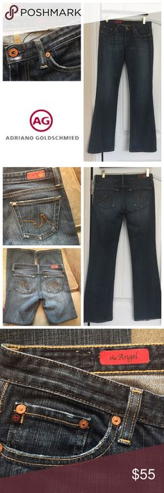 """AG Adriano Goldschmied Angel size 28R EUC Women's AG Adriano Goldschmied Angel fit  jeans size 28, inseam 31"""". Factory distressing on pocket edges. Super cute! AG Adriano Goldschmied Jeans Boot Cut"""