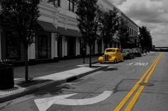 Yellow Car B+W