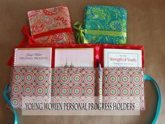 Young Women Personal Progress Holders Tutorial - Holds a personal progress book & journal, True to the Faith book, For the Strength of Youth pamphlet, and a pen!