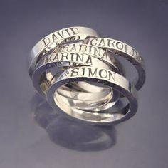 Familyrings, one for each familymember.  Handmade, personally for you.