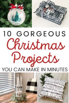 These gorgeous Christmas DIYs literally take minutes to make - and you'd never know they were made on a budget! #christmas