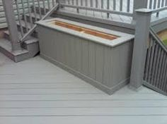 built in planter constructed out of trex/composite decking