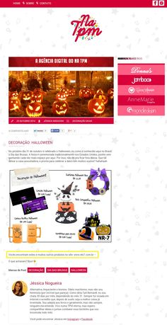 Cinco produtos da Elo7 foram publicados no Blog Na TPM, em matéria com dicas de decoração para o Halloween.
