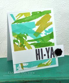 HI-YA Card by Dawn McVey for Papertrey Ink (February 2013)