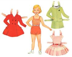 French 1500 free paper dolls at Arielle Gabriel's International Paper Doll Society...
