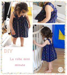 La robe mini minute - Un tuto de couture simple pour fabriquer une petite robe d'été enfant de 2 à 8 ans sans patron. Gabarits gratuits de 2 à 8 ans