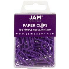 JAM Paper® Paper Clips - Regular 1 Inch Paperclips - Purple - 100 Paper Clips per Pack Purple Desk, Purple Office, Back To School Gifts, Office And School Supplies, Metal Paper Clips, Vinyl Paper, Paper Paper, Calming Colors, Paper Envelopes