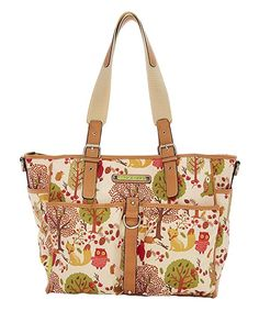 Lily Bloom Forest Owl Large Tote