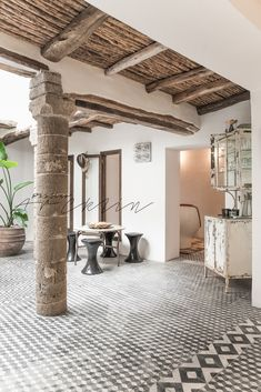 The dream holiday home continues with 'Five Columns' - a luxurious sympathetically restored town house in the laid back resort of Essaouira, Morocco. Coastal Cottage, Coastal Living, Coastal Decor, Coastal Curtains, Coastal Entryway, Coastal Rugs, Coastal Bedding, Coastal Furniture, Coastal Farmhouse