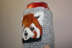 Red Panda can cozy needle felted by Crystalcat1989 on Etsy