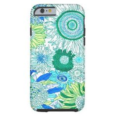 Blue Colorful Sunflowers iPhone 6 Case