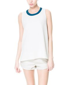 T - SHIRT WITH CONTRASTING EDGING ON THE NECK - T - shirts - TRF | ZARA United States