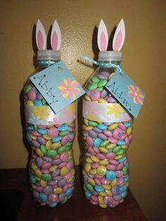 cute idea for kids Easter baskets! You could even make it with the mini water bottles!