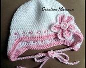Bonnet crocheté main